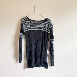 Free People Knit Striped Pattern Sweater
